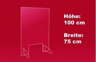 Spuckschutz 75 x 100 cm
